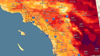 Forecast high temperatures on July 4