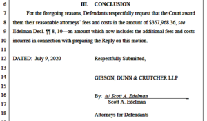 Rachel Maddow argument that its requested legal expenses are justified. (PDF)