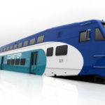 A rendering of the new cab car and coaches