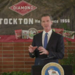 Gov. Gavin Newsom speaks in Stockton