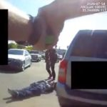 Image from body camera during arrest