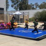 An outdoor children's class