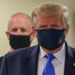 President wearing face mask.