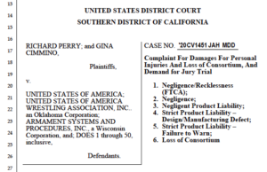 Richard Perry lawsuit against Marine Corps and USA Wrestling (PDF)
