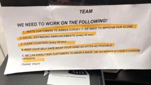 Highlighted document is posted on registers facing Rite Aid cashiers at the Adams Avenue store in Normal Heights, say UFCW Local 135 sources.