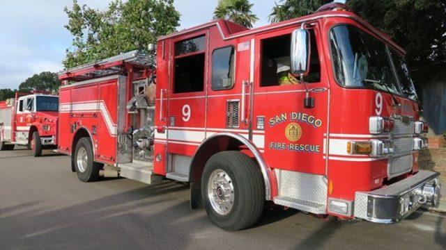 San Diego fire department engine.