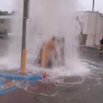 Fire hydrant flood