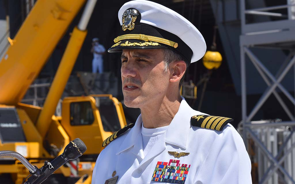 USS Theodore Roosevelt Capt. Carlos Sardiello said he was proud of his crew's tenacity and fortitude amid a difficult deployment.