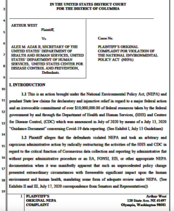 Arthur West's complaint against Secretary Azar and HHS