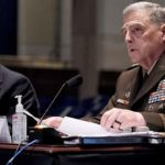 "Joint Chiefs Chairman Gen. Mark Milley gives an opening statement during a House Armed Services Committee hearing on ""Department of Defense Authorities and Roles Related to Civilian Law Enforcement"" July 9, 2020, in Washington."