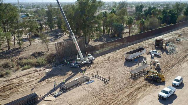 Border wall construction near Calexico