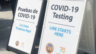 COVID-19 testing signs