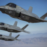 F-35B fighters over Twentynine Palms