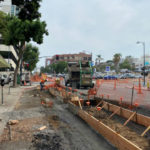 Bikeway construction on Fifth Avenue