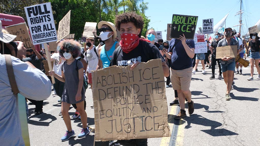 Many protesters called for abolishing Immigration Customs Enforcement.