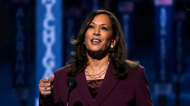 Kamala Harris accepts the Democratic vice presidential nomination