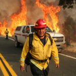 Chula Vista firefighter Rudy Diaz at the LNU Lightning Complex Fire