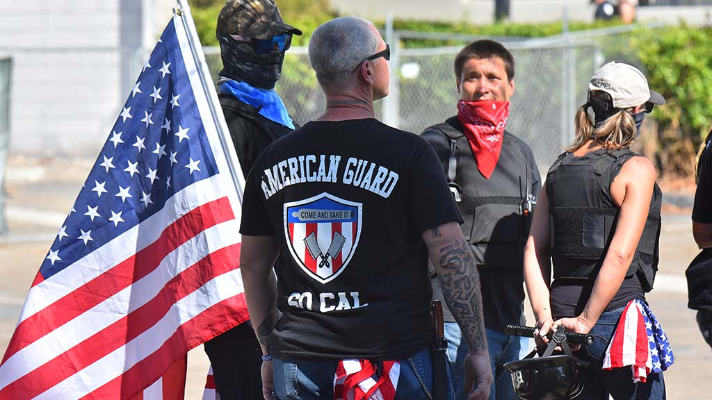 Counter protesters, some seen with knives, confronted BLM protesters in La Mesa.