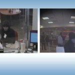 Surveillance phoitos of bank robbery suspect