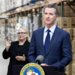 Gov. Gavin Newsom with sign language interpreter