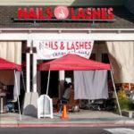 Nail salon operating outside