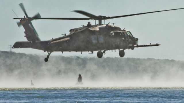 A Black Hawk helicopter from the 160th Special Operations Aviation Regiment