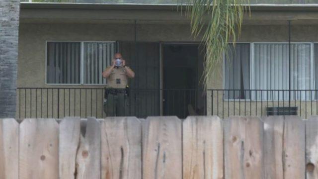 Deputy at scene of stabbing