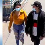 Surveillance photo of couple suspected of robbing woman Aug. 10 in Fashion Valley parking garage.