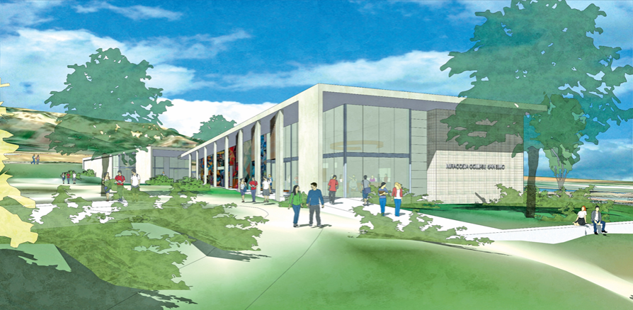 Artist rendering shows new building design