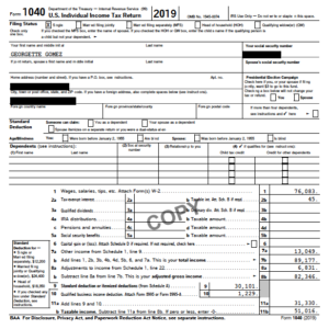 Georgette Gomez federal tax returns for 2017, 2018 and 2019. (PDF)