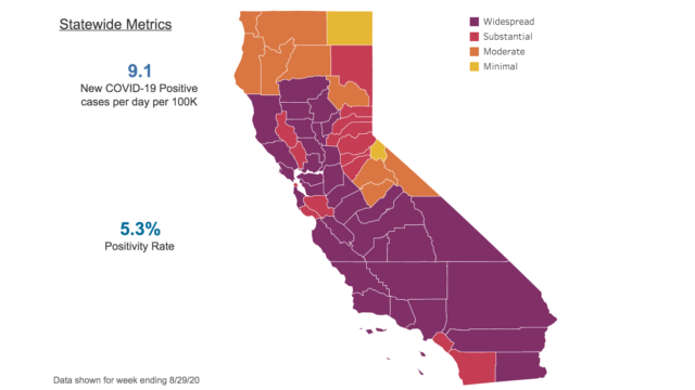 Map of state metrics