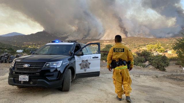 Deputy monitors Valley Fire
