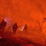 Crew battles Valley Fire.