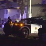 San Diego police inspect scene of fatal shooting last week.