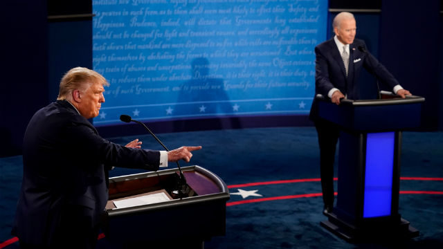 President Trump and Joe Biden debate