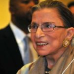 Justice Ruth Bader Ginsburg addressed a Thomas Jefferson School of Law audience in February 2013 in San Diego
