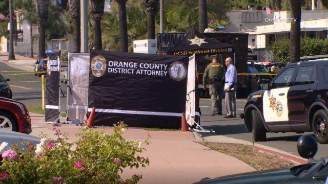 Crime scene in San Clemente