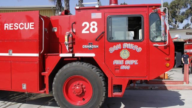 A San Diego Fire-Rescue engine