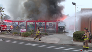 Fire at Wow Auto Care.