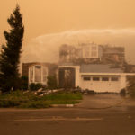 A home burned in Santa Rosa