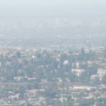 Smoke from the Valley Fire on Sunday obscured view of downtown San Diego from Mount Helix near La Mesa.