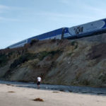 An Amtrak train on the Del Mar bluffs