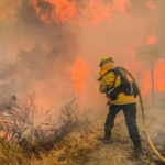 Firefighters battle Valley Fire