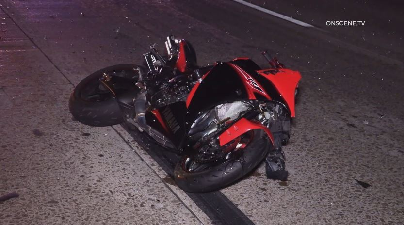 Motorcycle involved in crash