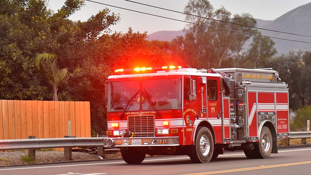 Firefighters head to fire hot spots in the east county on the sixth day of dousing the Valley Fire.