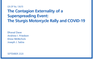 Two SDSU researchers helped produce this report on Sturgis Motorcycle Rally.