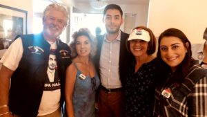 Sara Jacobs (right) helped campaign with Ammar Campa-Najjar in Temecula two days before the November 2018 election.