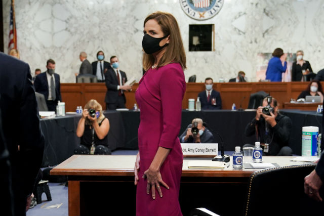 Amy Coney Barrett at her confirmation hearing