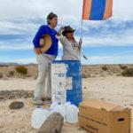 John and Laura Hunter in the desert