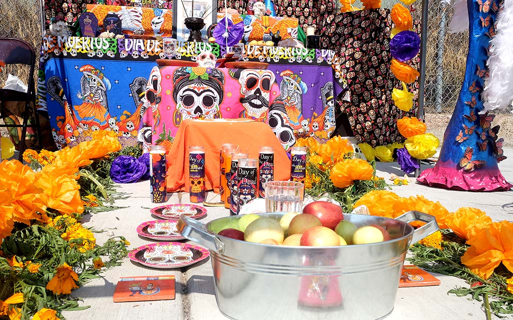 Visitors to the City Heights Dia de los Muertos celebration voted for their favorite altar.